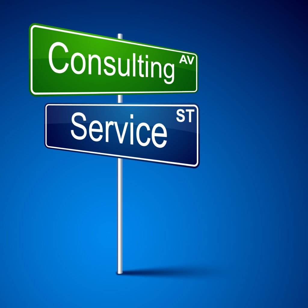 Consulting Service Street Signs graphic - Healthcare IT Consulting from Global IT Services
